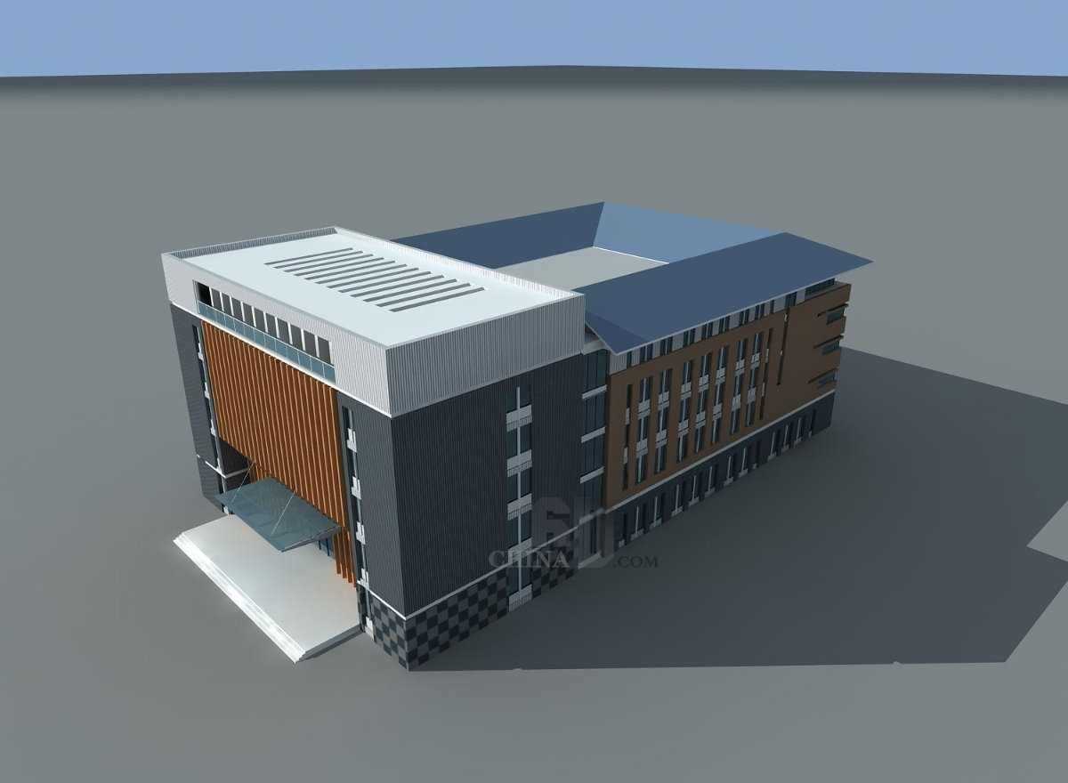 坡屋顶现代学校