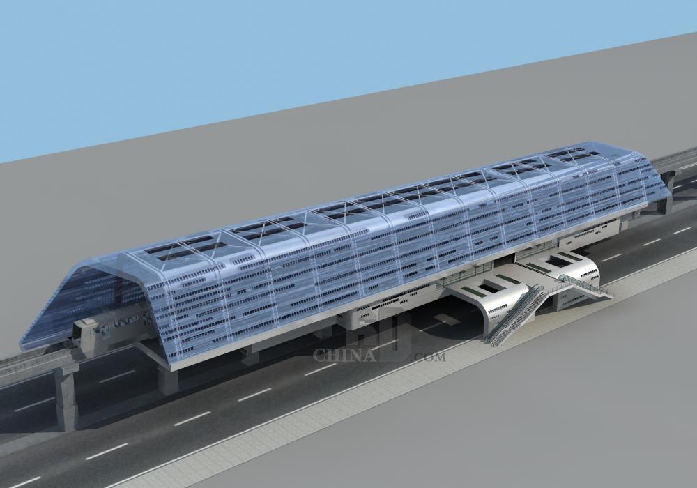 现代轻轨站
