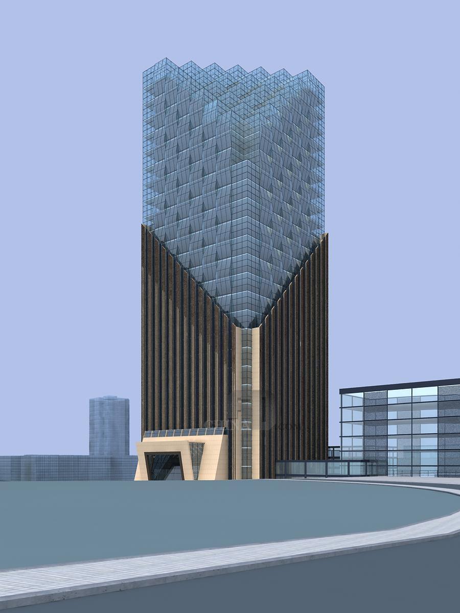 合川涪江二桥收费站道路广场商业建筑