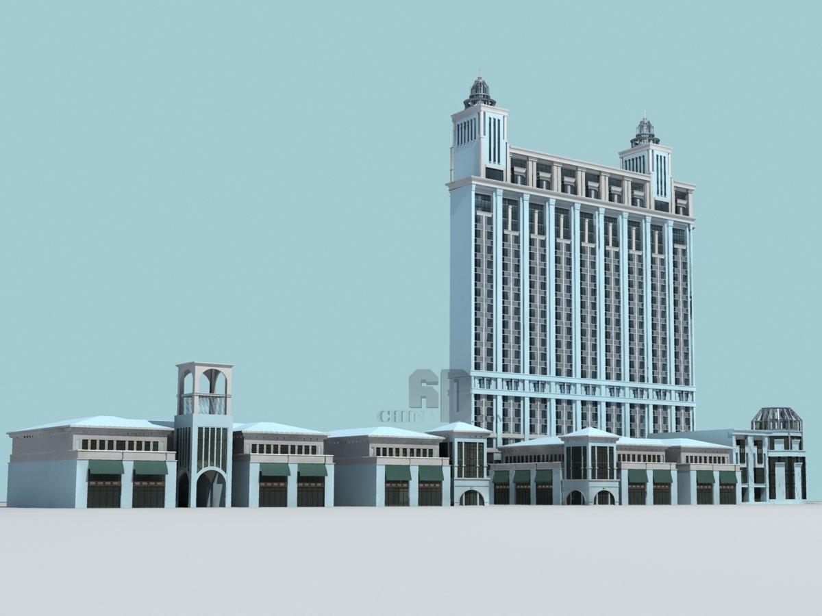 欧式高层办公楼