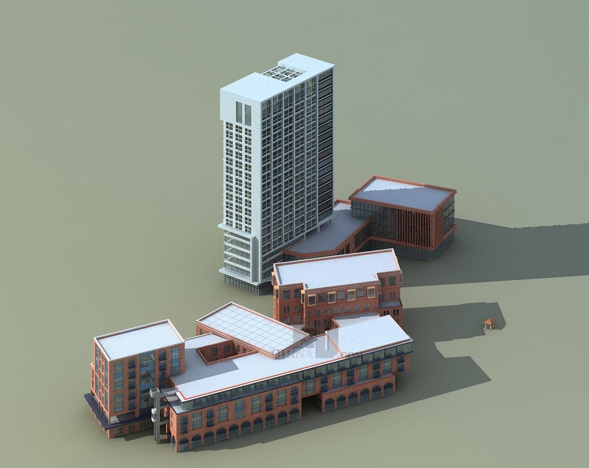 经典现代简欧商业医院综合体