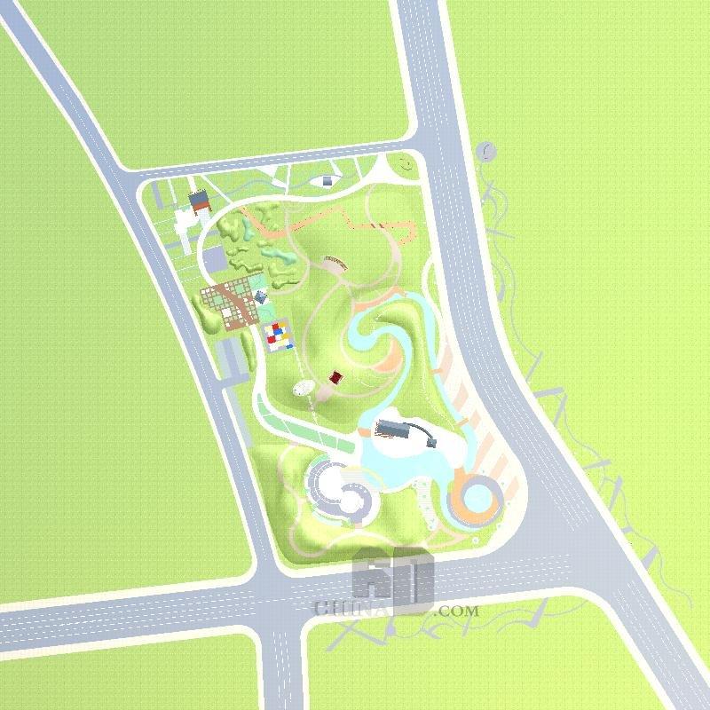 庆阳城北广场及森林公园规划