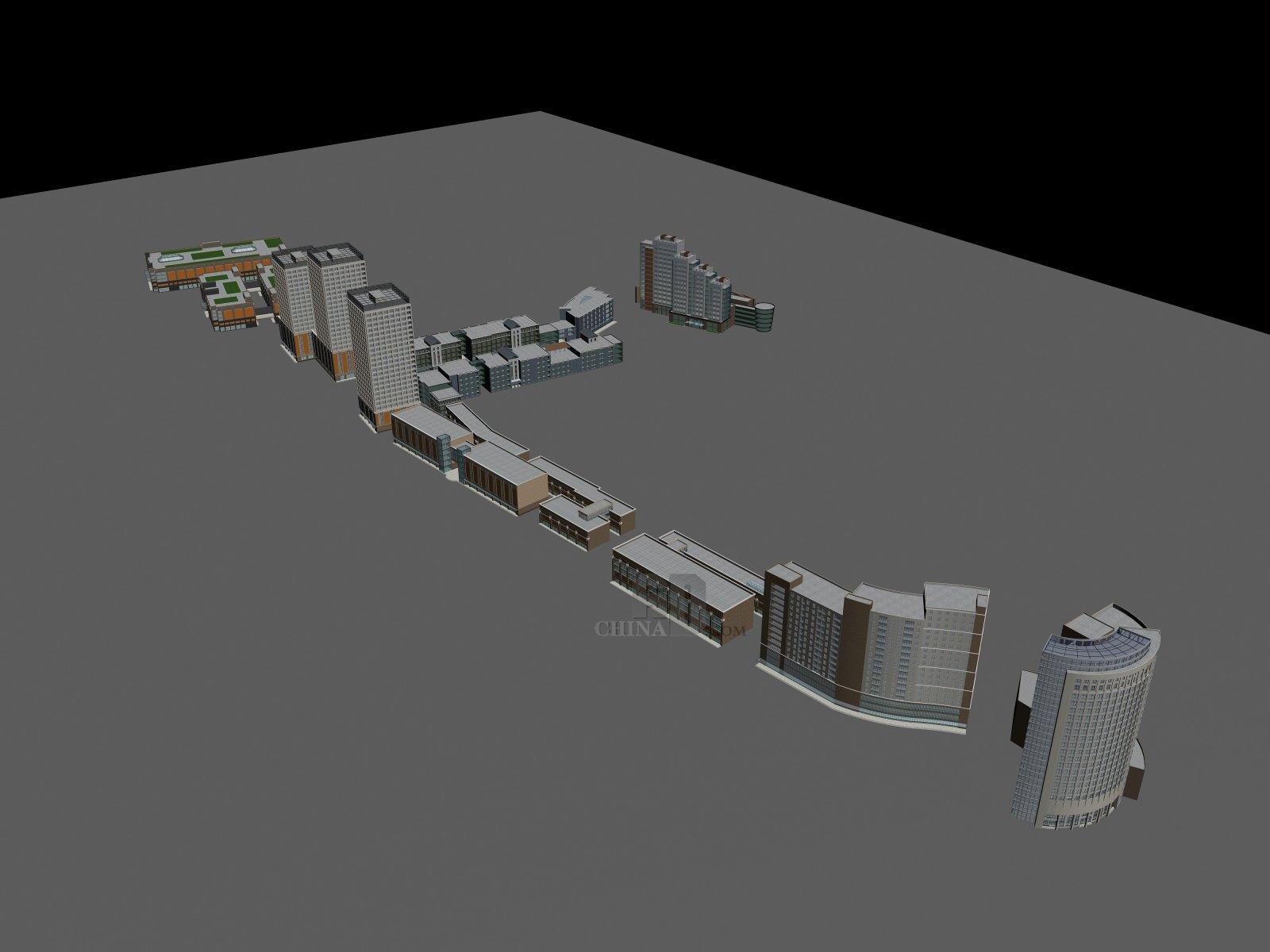 现代商业建筑群