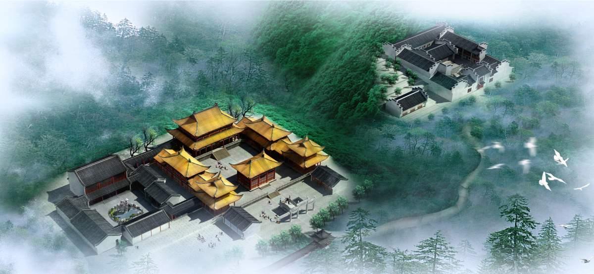 寺庙 鸟瞰