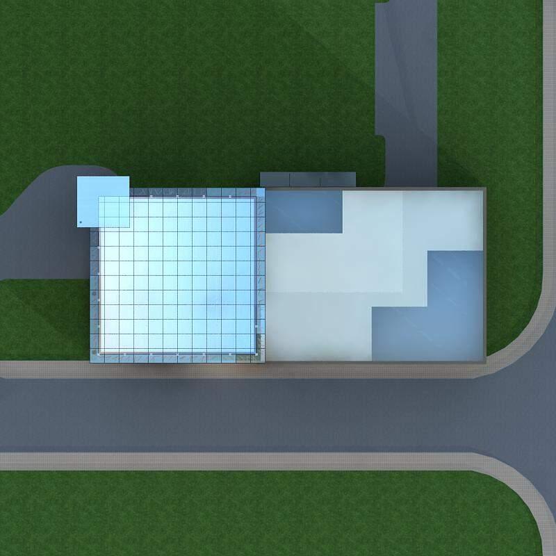 现代高层办公大厦