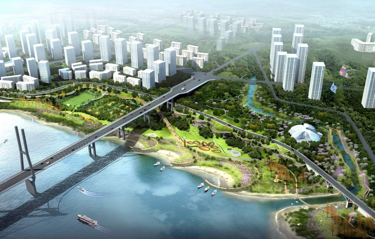 桥下地区域角度