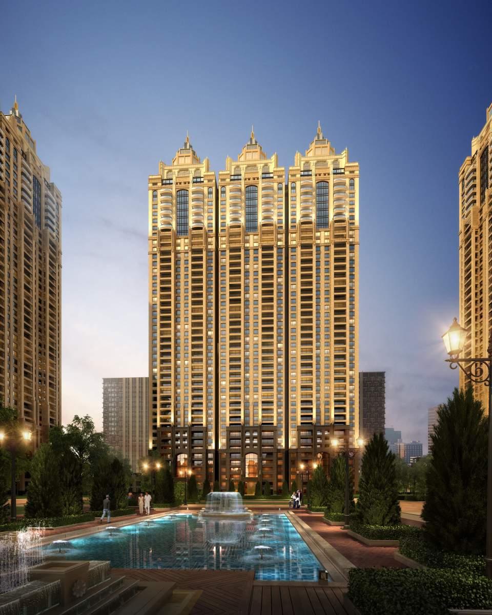 欧式超高层公寓