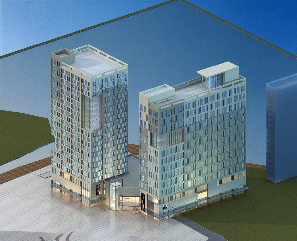 现代商业及办公楼