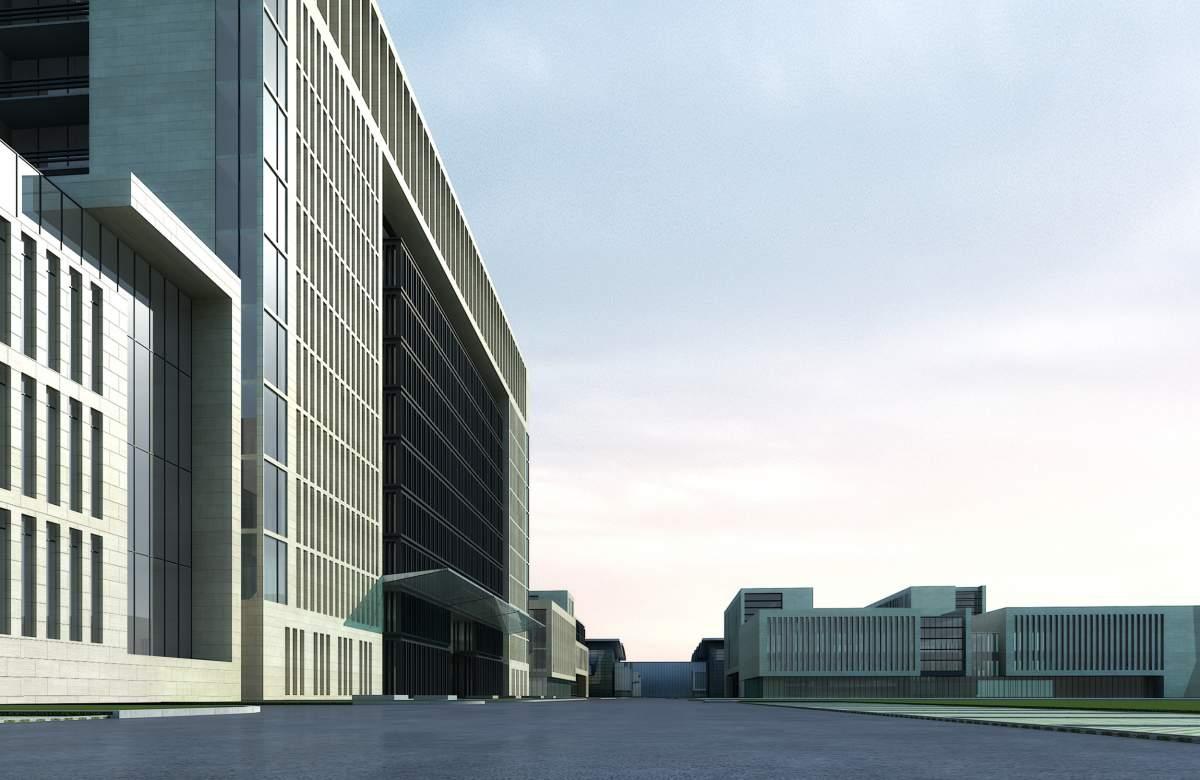 现代厂房及办公楼方案三