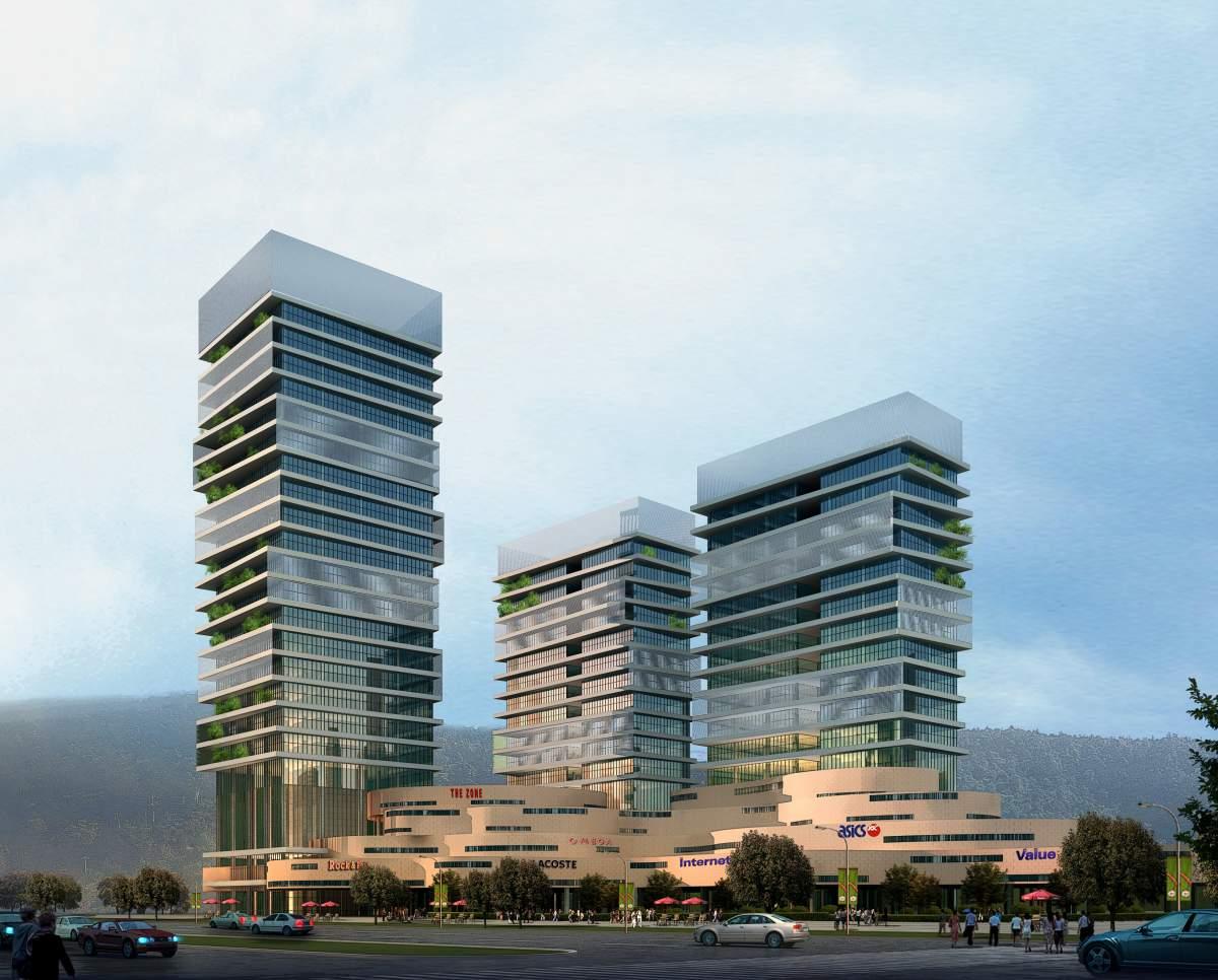 现代高层办公楼及商厦
