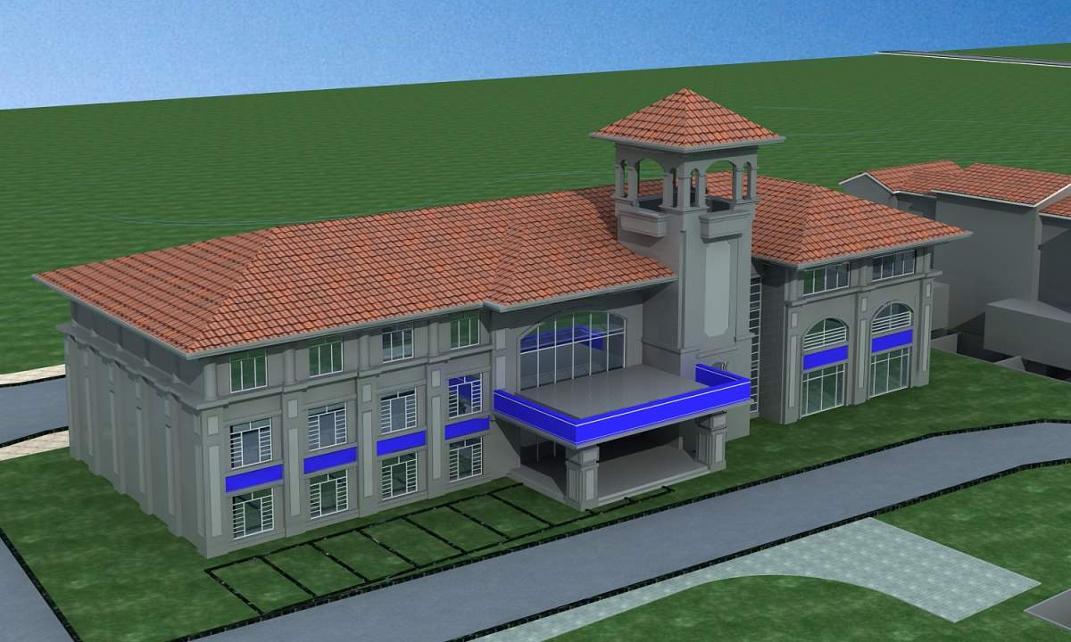 欧式办公楼--公安局