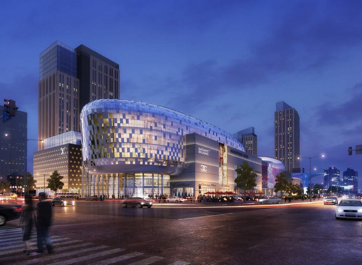现代大型商厦及住宅楼