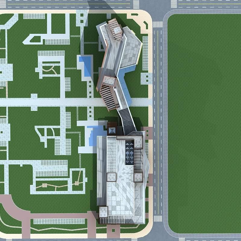 现代高层办公楼及商业大厦