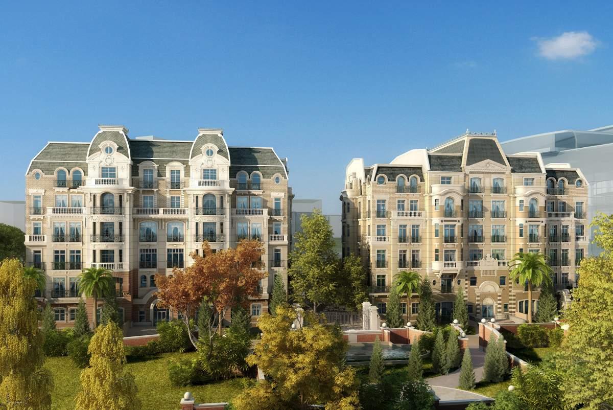 欧式多层住宅公寓
