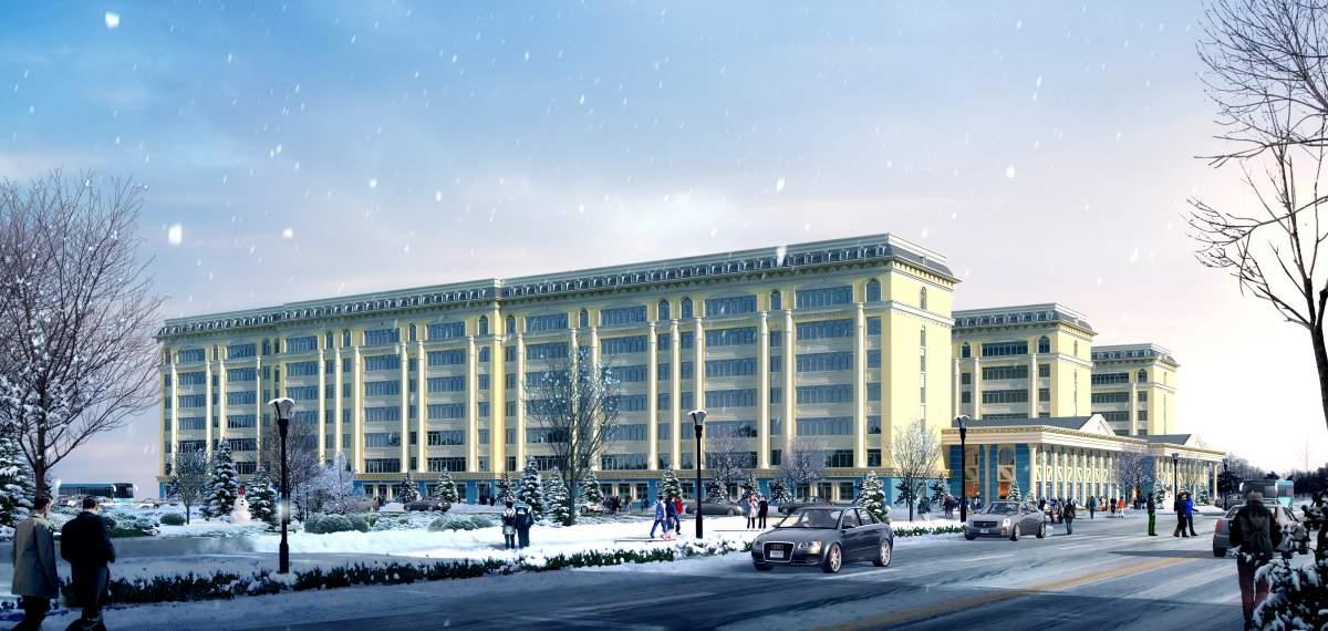 欧式多层办公楼及商业裙房