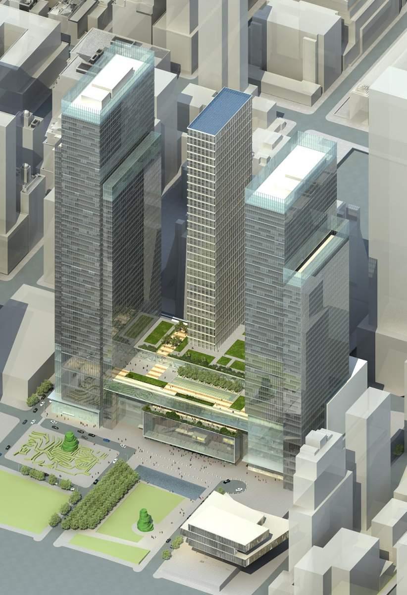 现代高层综合大厦