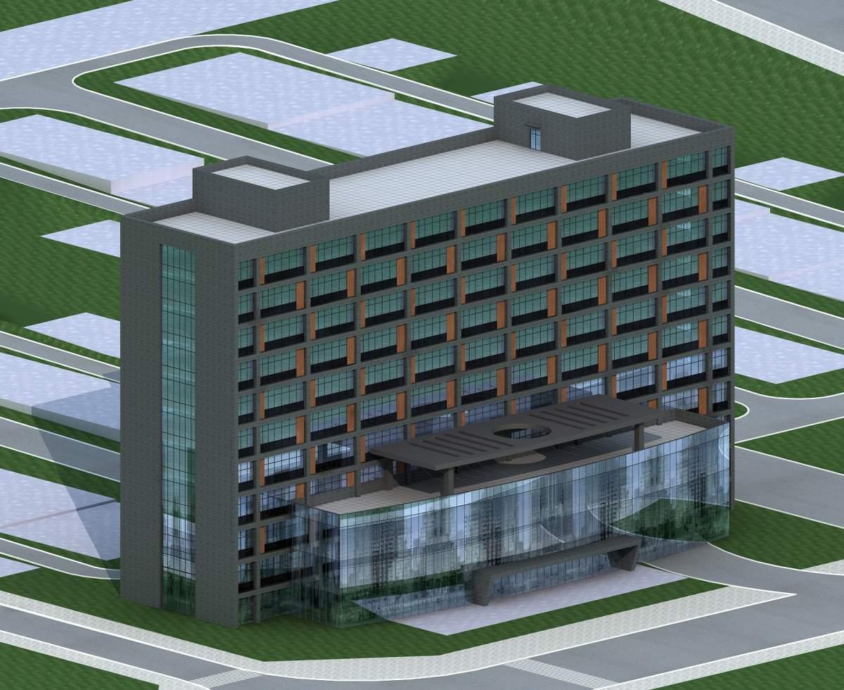 现代风格小高层办公楼