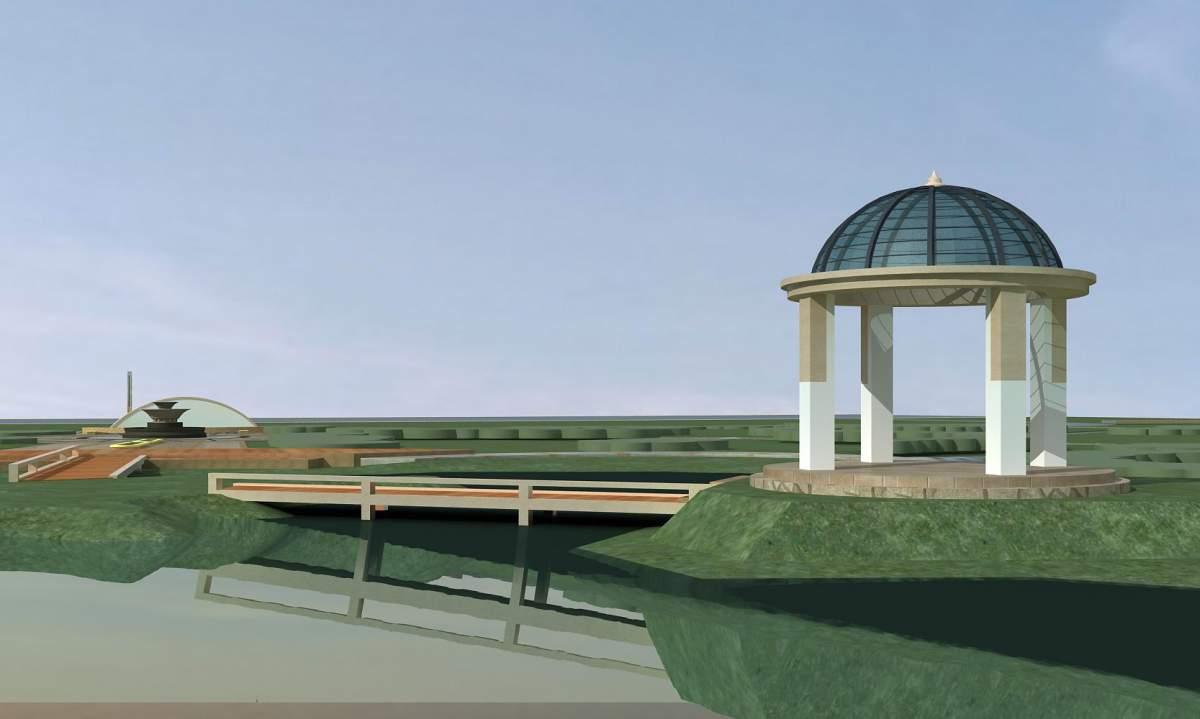 入口景观-凉亭 喷水池等