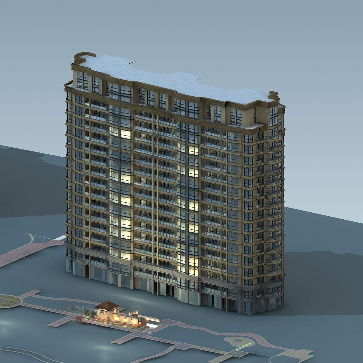 简欧高层住宅公寓