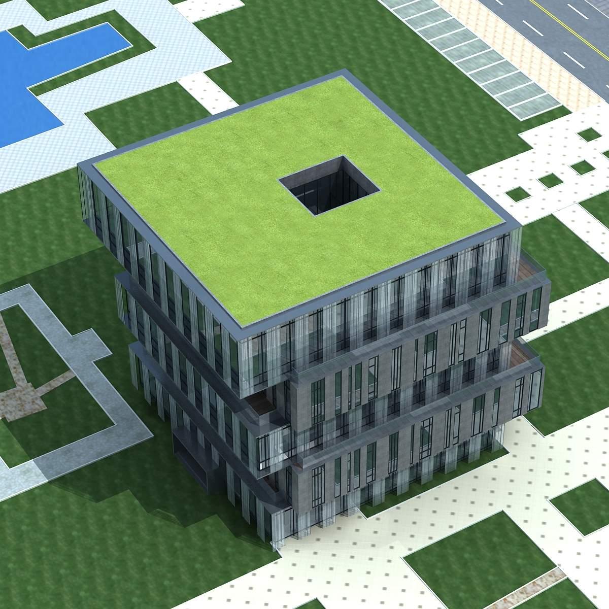 现代多层商厦