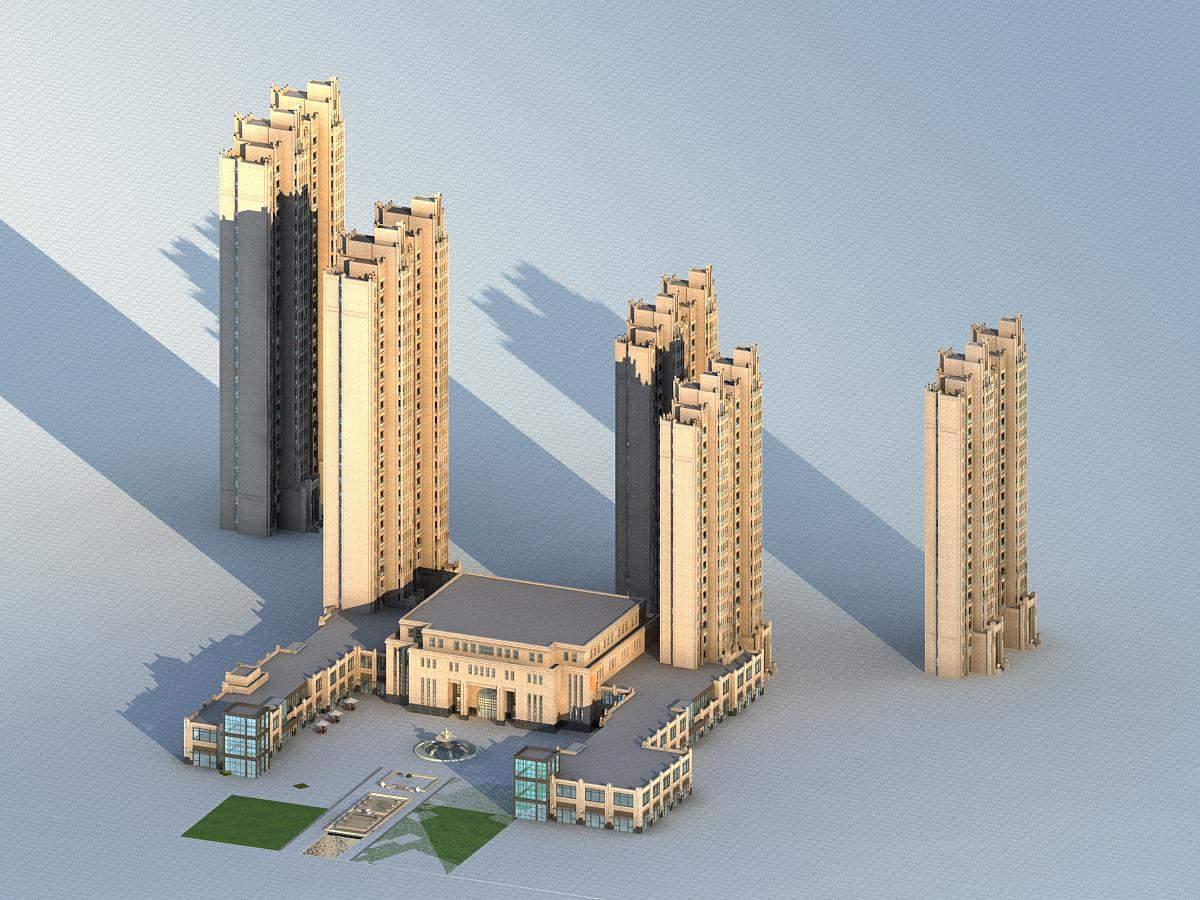 欧式高层住宅公寓及会所