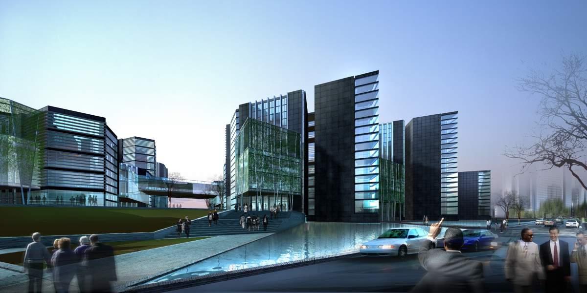 现代高层办公楼群