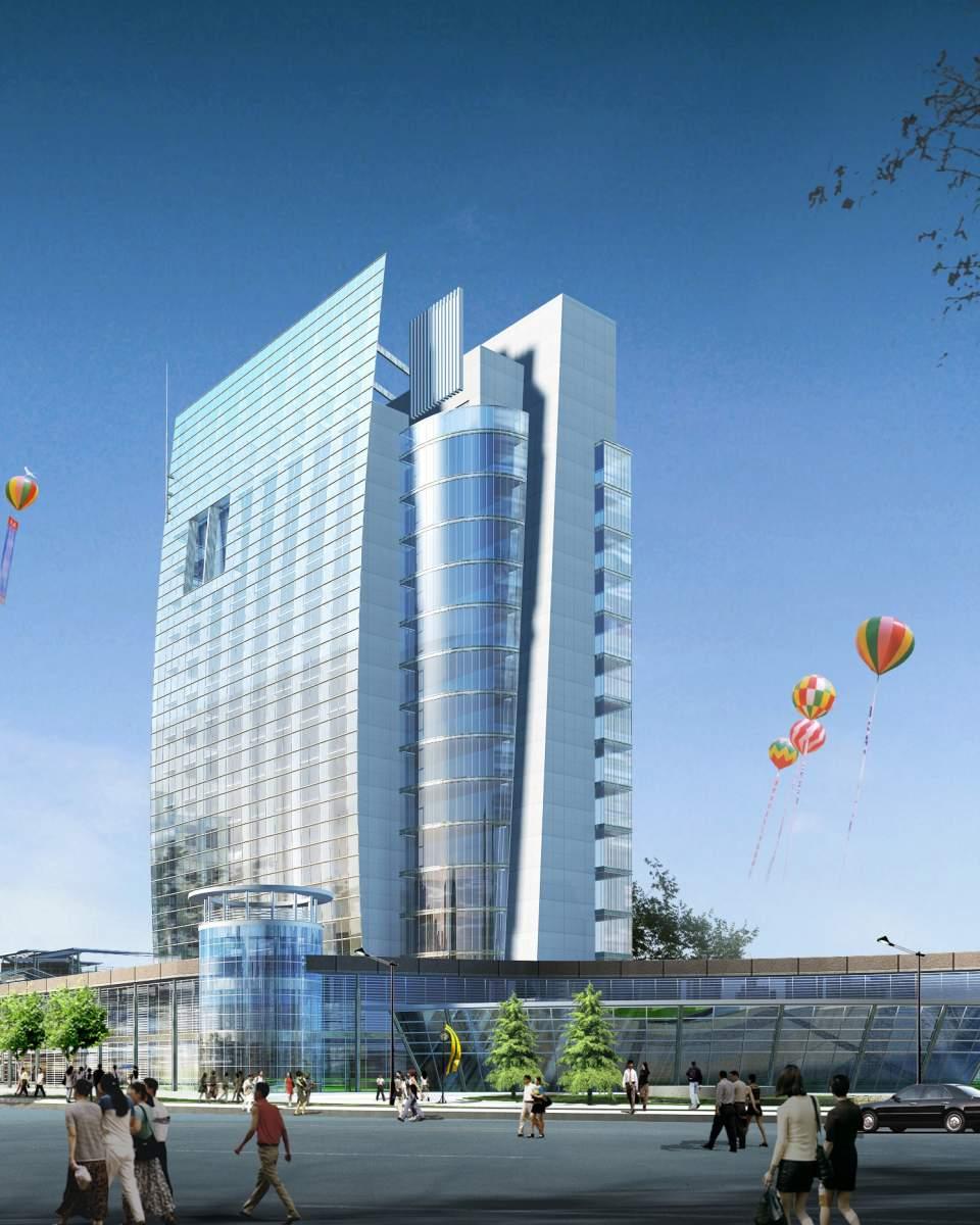 现代大型商厦及办公楼