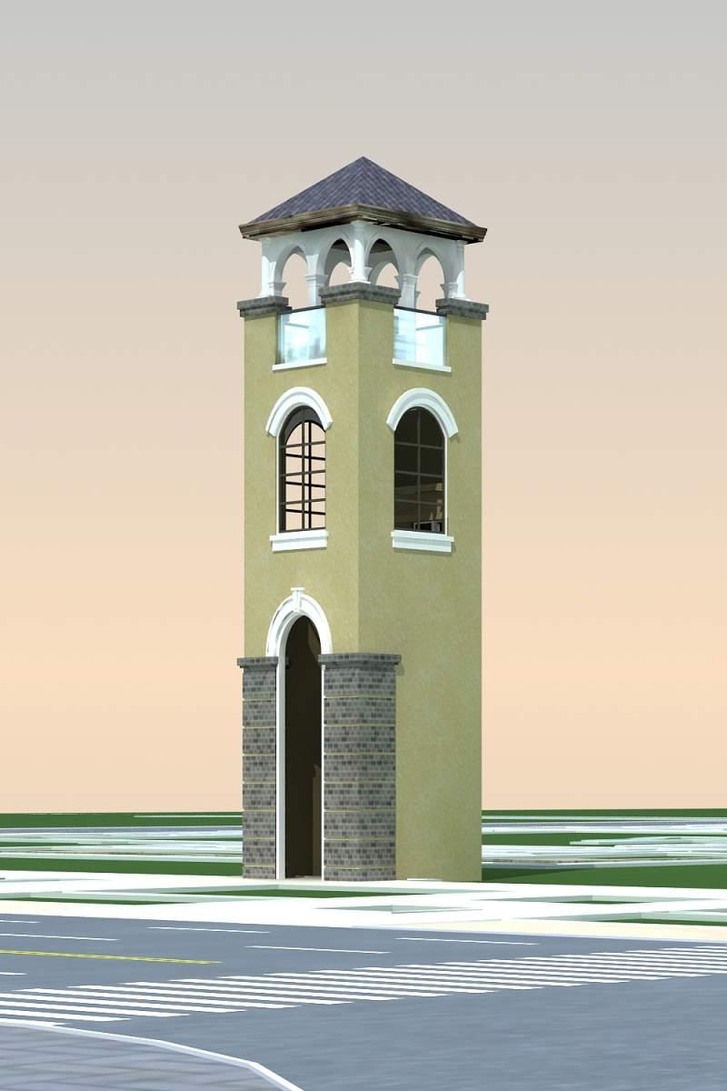 欧式景观塔