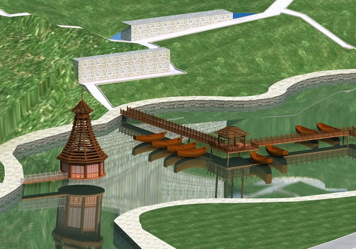 景观--船、桥等