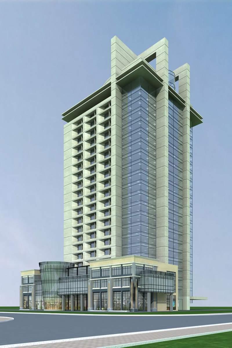 现代高层办公楼及商业