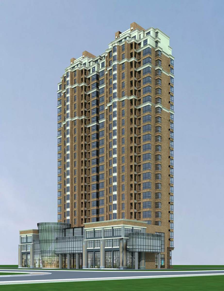 欧式高层住宅公寓