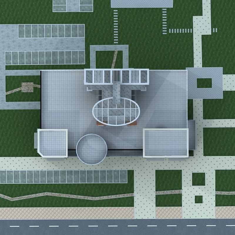现代高层住宅楼及商业裙房