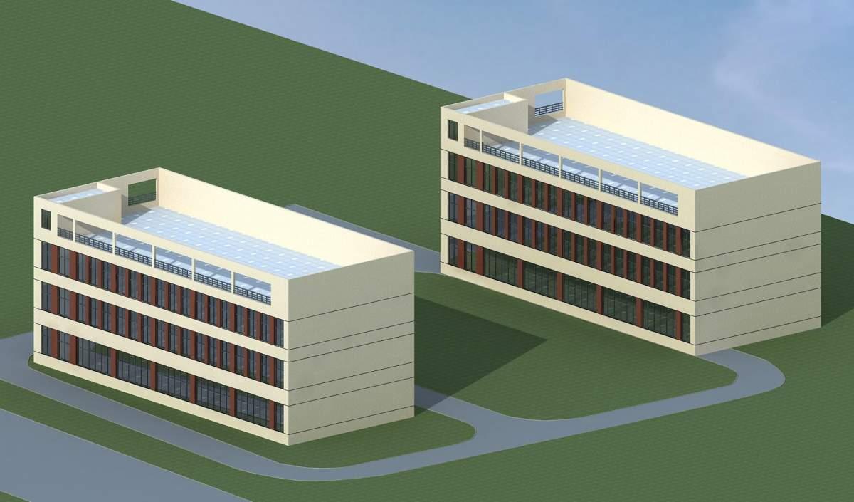现代小办公楼