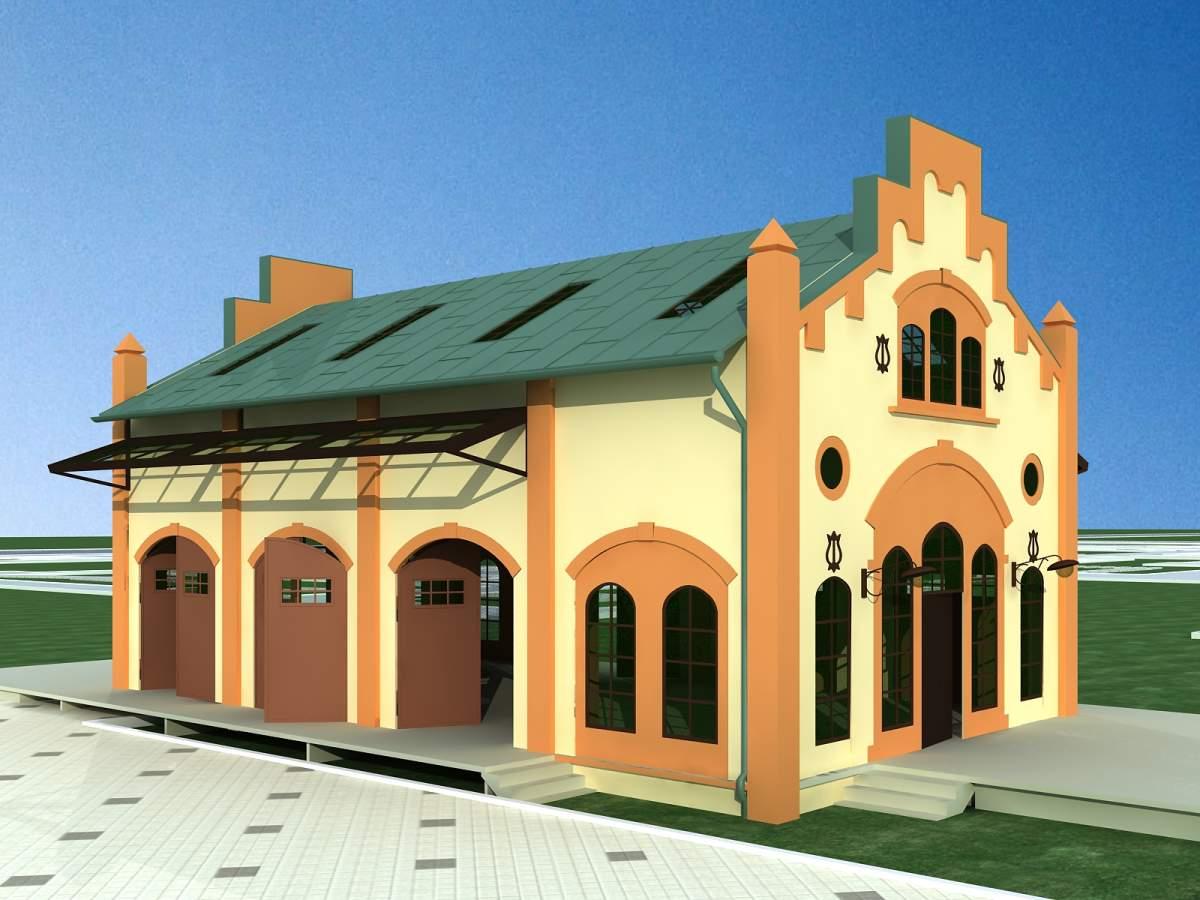欧式小商业建筑