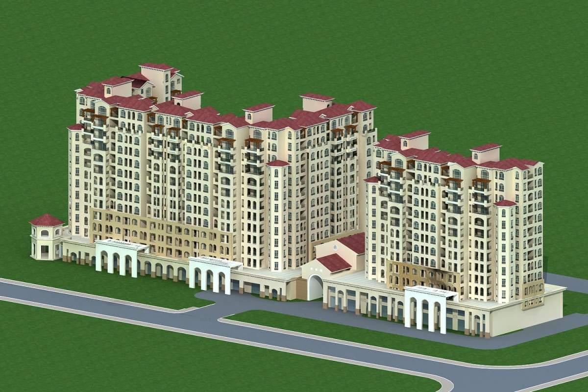 欧式高层住宅公寓及商业裙房