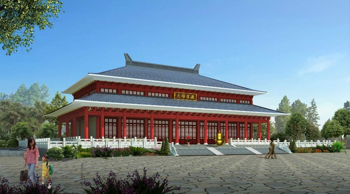 中式大雄宝殿