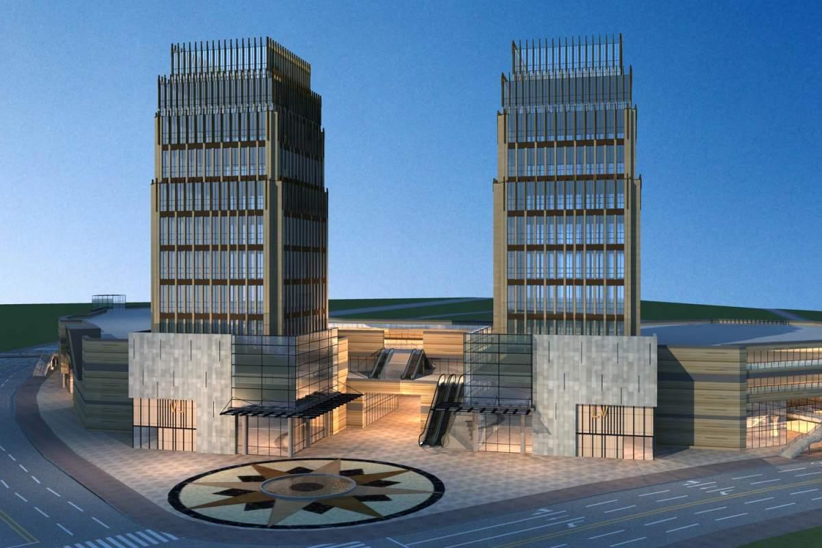 现代商业大厦及办公楼