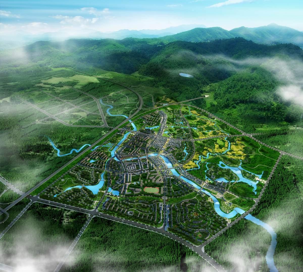 壁山来凤城市规划