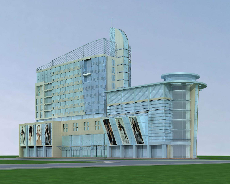 现代高层综合楼