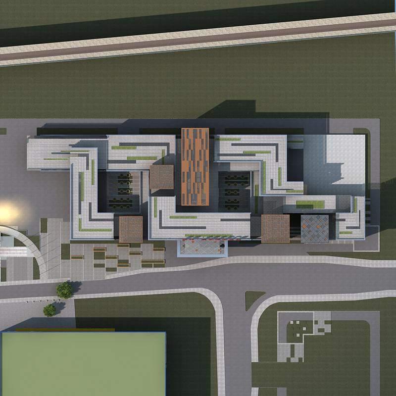 现代多层大型商厦