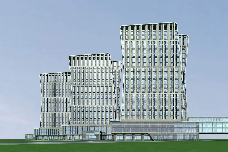 现代高层商业及办公楼