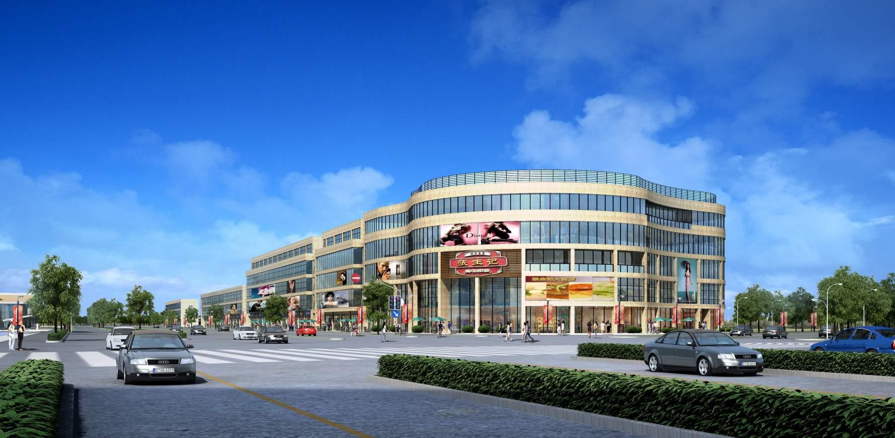 现代多层商业大厦