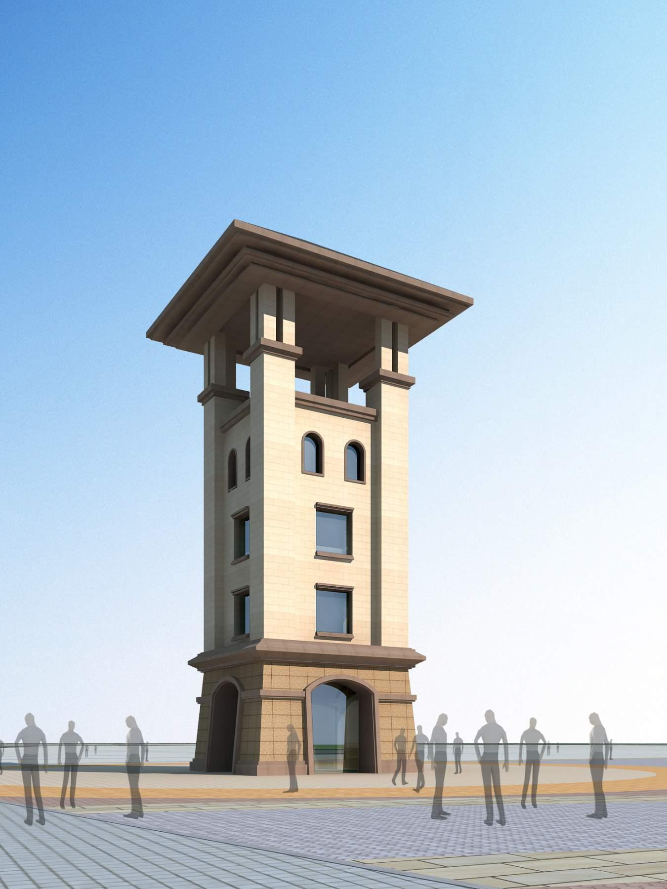 欧式--景观塔