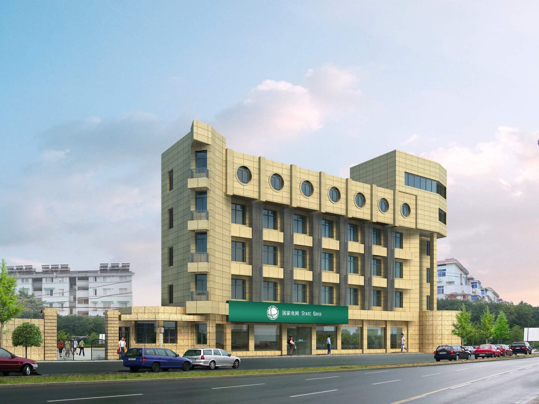 现代多层小办公楼