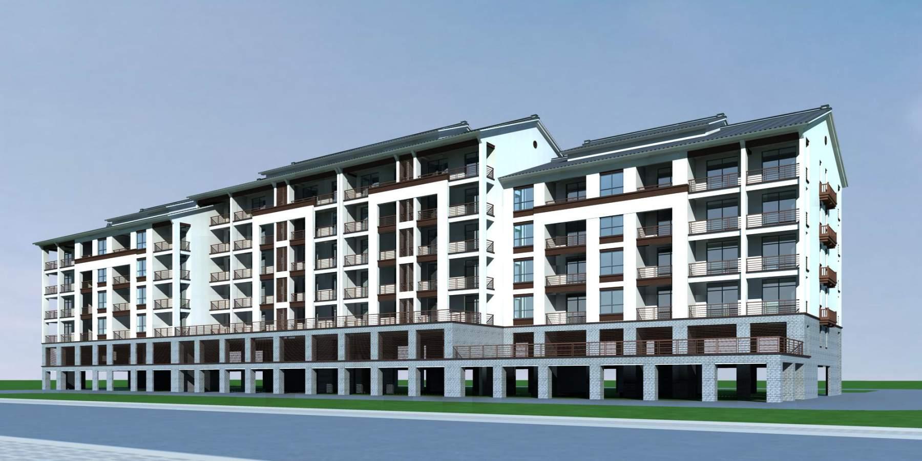 中式多层住宅楼