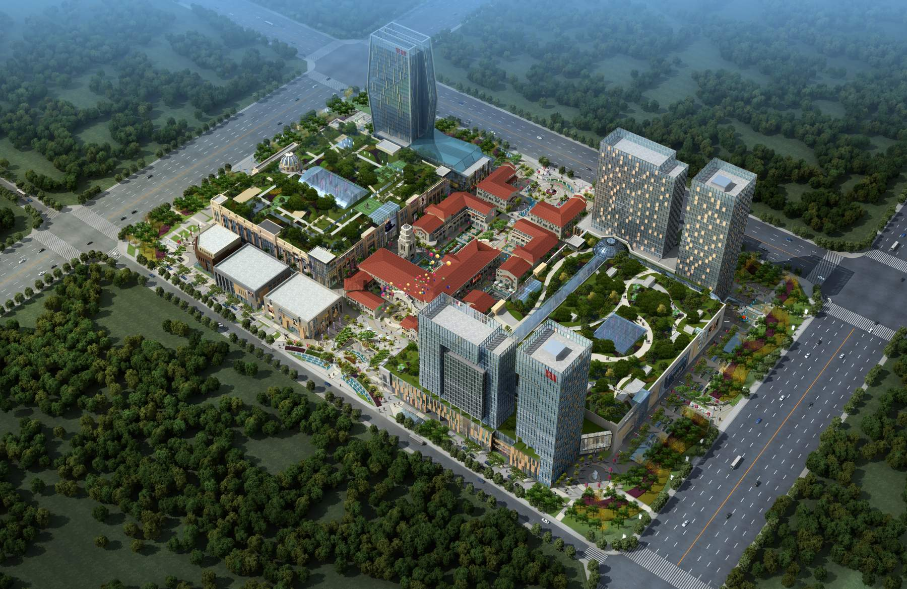 现代商贸中心