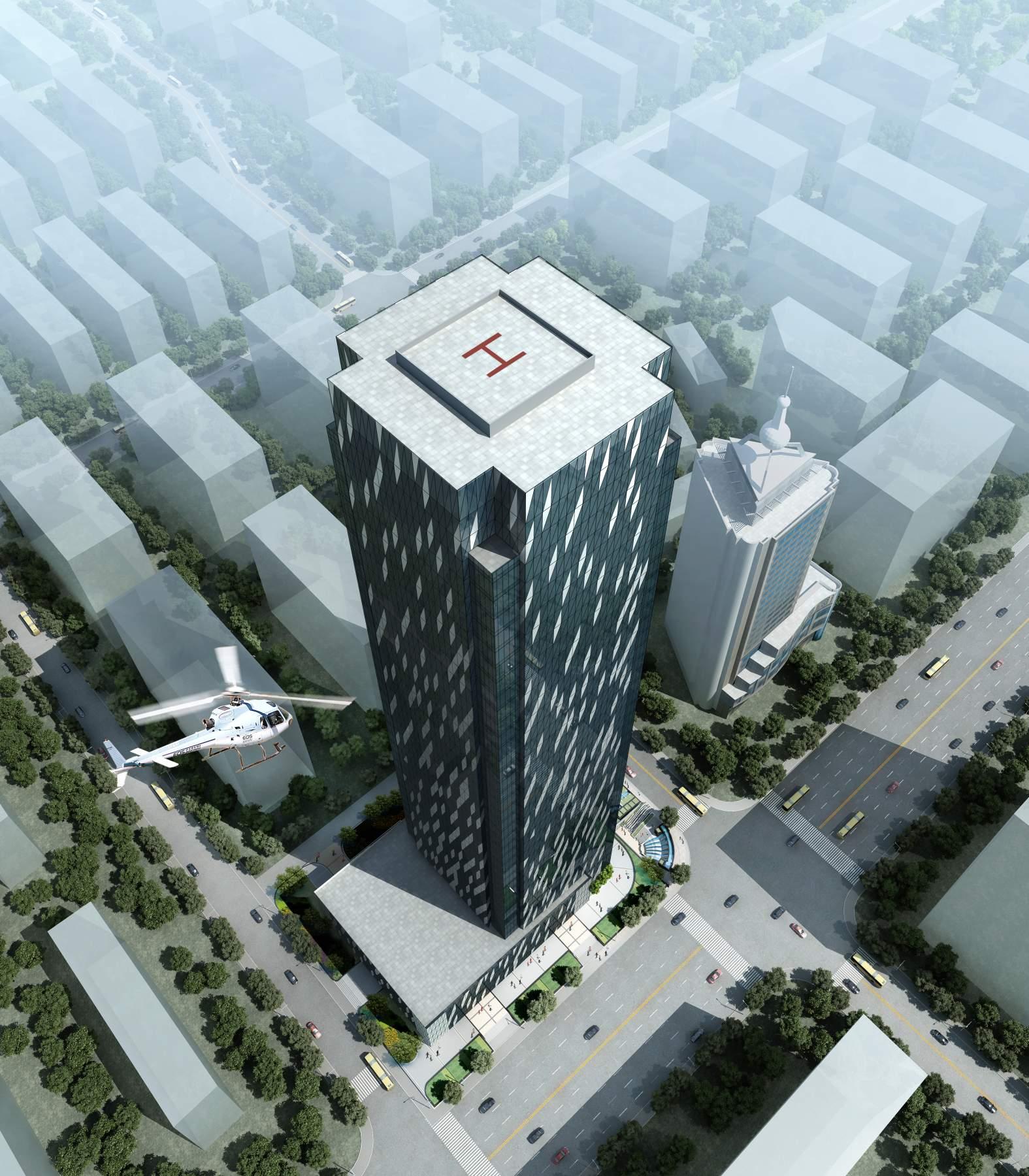 现代超高层办公楼