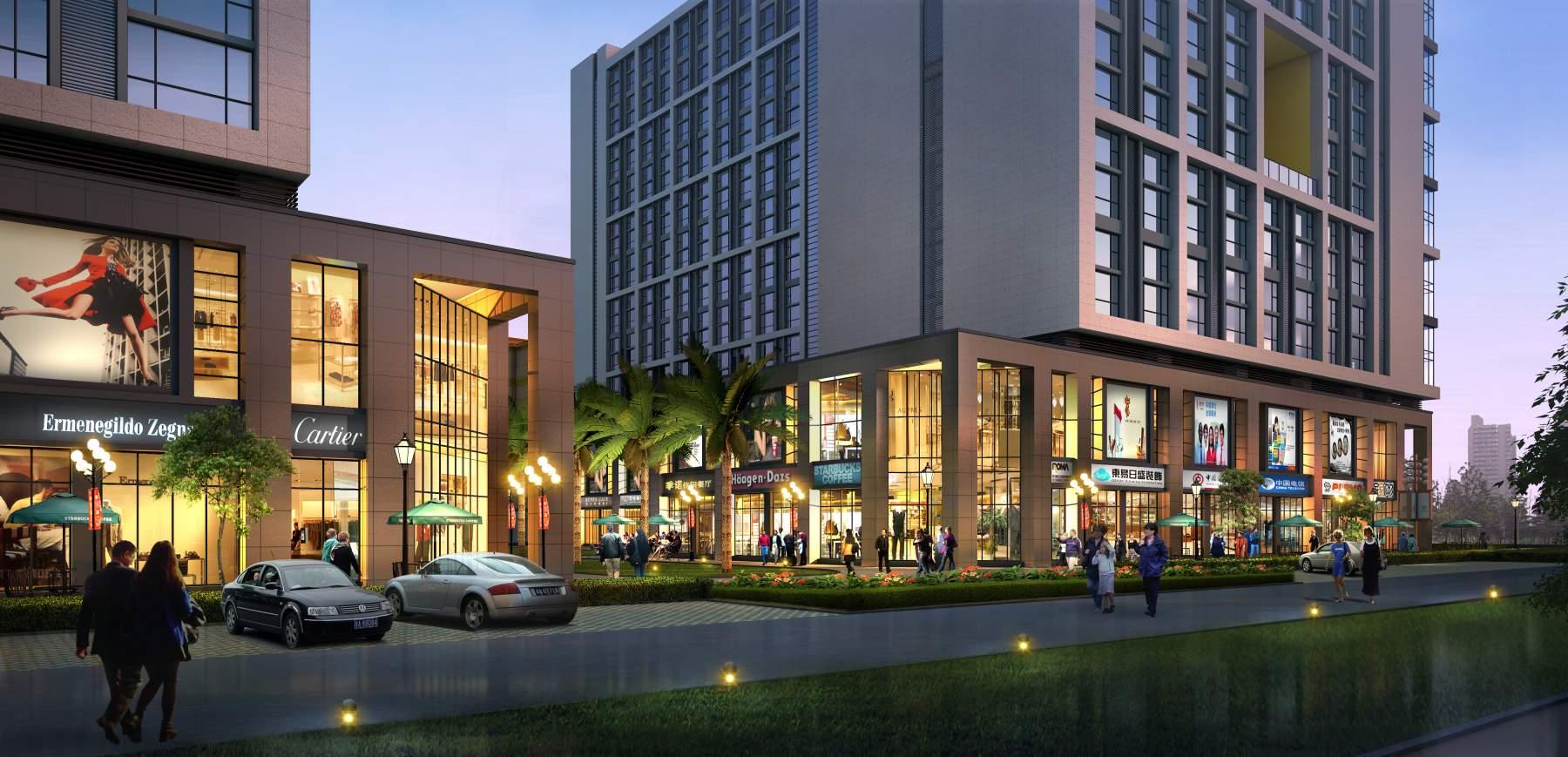 现代商厦及住宅楼