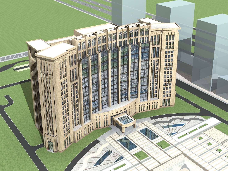 现代高层政府办公楼