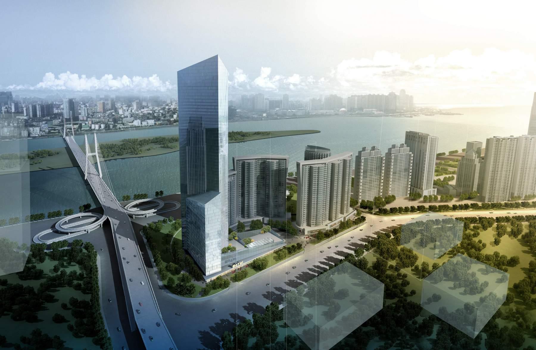 现代高层住宅楼及办公楼